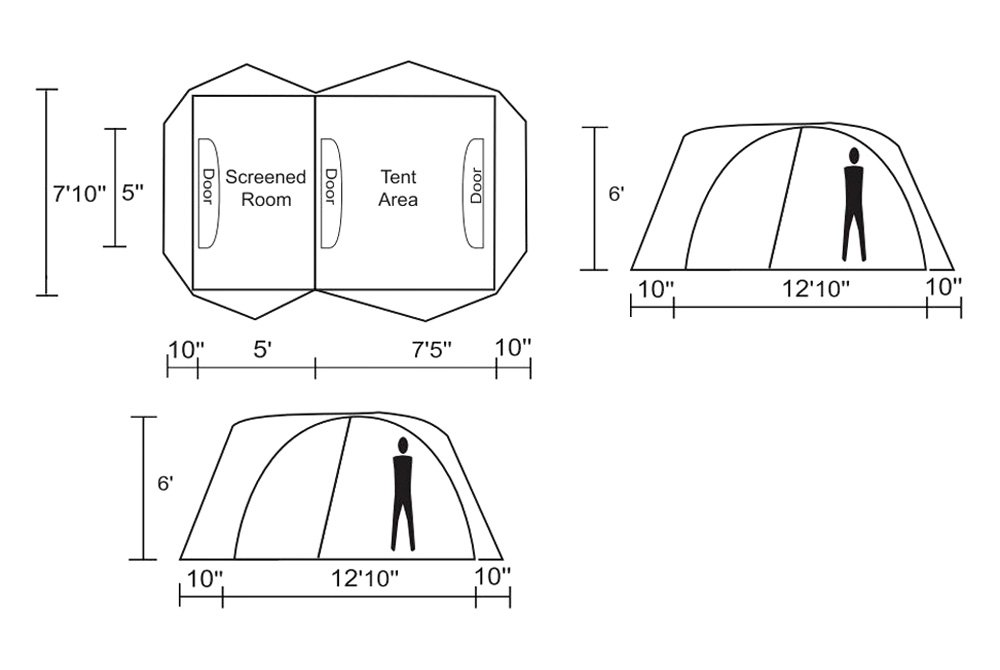 chinook twin peaks guide 4 person 3 season tent
